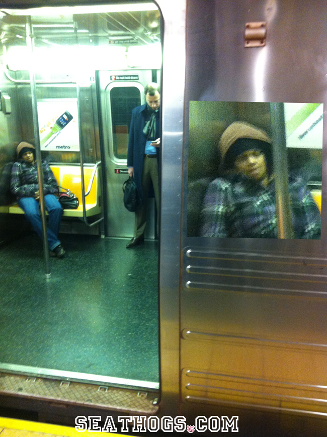This Subway Scrooge Hogs Extra Hard Come Holiday Season.