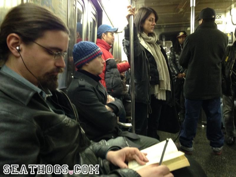 Grouchy Man Takes Notes While Listening To Seathogging Podcast